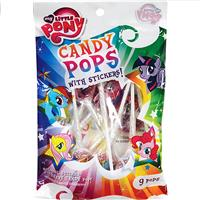 Wholesale 9ct My Little Pony Pops with Stickers Peg Bag