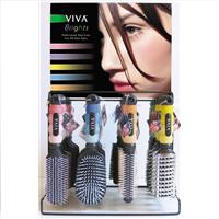 Wholesale Viva Bright Professional Hairbrush Display 4 Styles, 4 Colors
