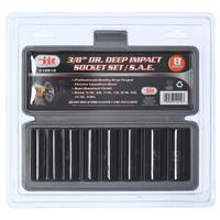 "Wholesale 8pc 3/8"" Deep Impact Socket Set SAE"