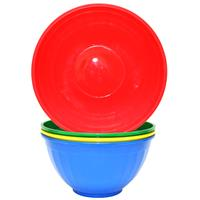 Wholesale Round Plastic Serving Bowls Assorted Colors 11.5""""""""