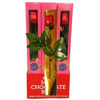 Wholesale Alberts Chocolate Rose In Window Box - Display Case