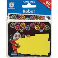 Wholesale 40 COUNT ROBOT NAMETAGS