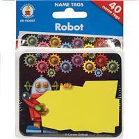 Wholesale 40 COUNT ROBOT NAMETAGS