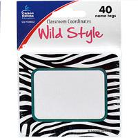 Wholesale 40CT WILD STYLE NAMETAGS