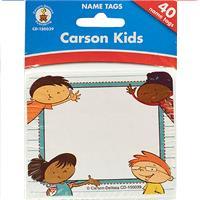 Wholesale 40 COUNT CARSON KIDS NAMETAGS