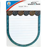 Wholesale Z50CT BLACK WHITE&BOLD NOTEPAD