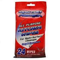 "Wholesale Iron Chef American All Purpose Kitchen Wipes 5.9""x7.9"""
