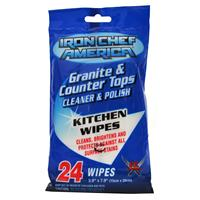 Wholesale Iron Chef American Granite & Counter Tops Cleaner & Polish Wipes
