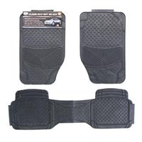Wholesale 3pc CAR FLOOR MATS - BLACK