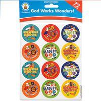 Wholesale 72CT STICKERS GOD WORKS WONDER