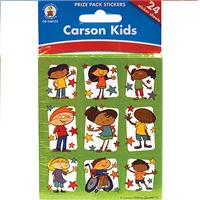 Wholesale 24 SHEET STICKERS CARSON KIDS