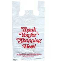 Wholesale Thankyou t-Shirt Shopping Bag 1/6 - 18MIC Thick 11
