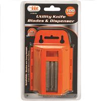 Wholesale 100PC Utility Knife Blades & Dispenser