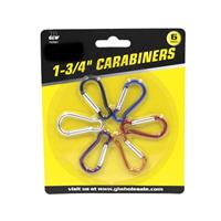 Wholesale 6pc CARABINERS- 1-3/4""