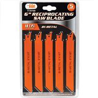 "Wholesale 5pc Bi-Metal 6"" Reciprocating Saw Blade"