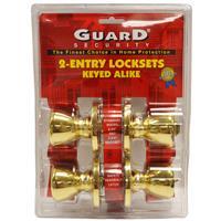 "Wholesale 2pk BRASS ENTRY LOCKS KEY ALIKE BRASS KW1 keyway Adjustable latch 2-3/8-2-3/4"""