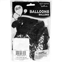 "Wholesale 11"" Helium Ready Balloons Black 15 Packs"
