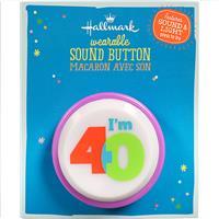 "Wholesale 40TH BIRTHDAY SOUND BUTTON 2"""