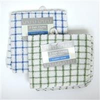 "Wholesale Dish Cloth Checked 12"" x 12"" 2 Pack Assorted Col"