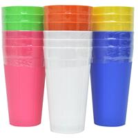 Wholesale Plastic Tumblers 3pk - 6 Colors