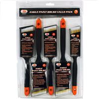 Wholesale 5PC Angle Paint Brush Value Pack
