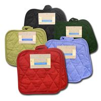 Wholesale Pot Holders 2 Pack Square Solid Woven Assorted