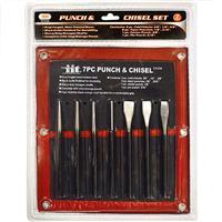 Wholesale 7PC.PUNCH & CHISEL-D/BLISTER