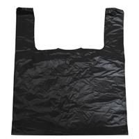 Wholesale Black Jumbo T-Shirt Bags 18x18x30 inches 15 mic