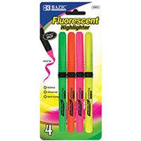 Wholesale Pen Style Fluorescent Highlighters with Grip Assor