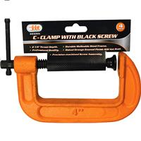 "Wholesale 4"" C-CLAMP W/ BLACK SCREW"