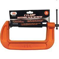 "Wholesale 6"""" C Clamp With Black Screw"