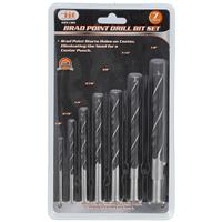 Wholesale 7PC Brad Point Drill Bit Set