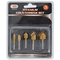 Wholesale 5PC Titanium Countersink Set