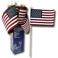 "Wholesale US Flag 8""x12"" Cotton.  Made in USA display ."