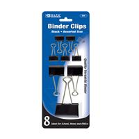 Wholesale Black Binder Clip Assorted Sizes 8 Pack
