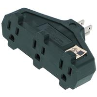 Wholesale 3-Outlet Grounding Adapter