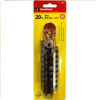 Wholesale Z20PC HEX BIT SET & HOLDER SAE