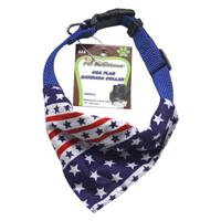 Wholesale SMALL USA FLAG BANDANA COLLAR