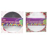 "Wholesale 10"" CAKE BOARD & BOX SET"