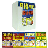 Wholesale Big Print/Reg Word Find Puzzle Book 4 Titles 96 Pa