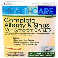 Wholesale Health Care APAP Allergy / Sinus Caplets PE Formul