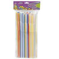 Wholesale 100pc ARTISTIC NEON FLEX STRAW