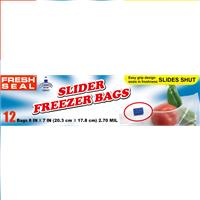 Wholesale 12ct Fresh Seal Slider Bags Quart Freezer