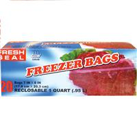"Wholesale 20ct Fresh Seal Quart Freezer Bag ""Ziploc"""