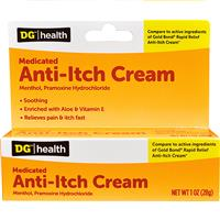 Wholesale DG Health - Anti-itch Cream (NBE - Gold Bond - 1% Menthol, 1% Pramoxine Hydrochl