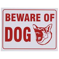 "Wholesale 9"" x 12"" BEWARE OF DOG SIGN"