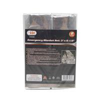 Wholesale 2 Pack Emergency blanket 3' x 6 1/2'