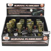 Wholesale Z14 LED SURVIVAL FLASHLIGHT