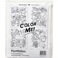Wholesale 4PK COLOR ME 2 POCKET FOLDERS