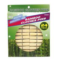 Wholesale Bamboo clothespins 24 ct
